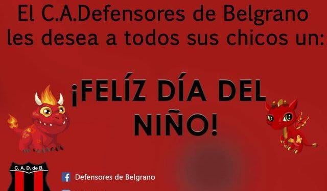 Feliz Dia Del Nino Club Atletico Defensores De Belgrano